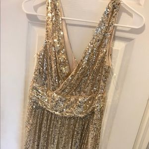 Dresses & Skirts - Kate Karsin gold sequin gown